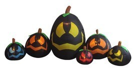 Halloween Inflatable Black Pumpkins Garden Yard Party Decoration Balloon... - $89.00
