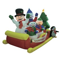 Christmas Inflatable Snowman Snowmen Sleigh Tree Outdoor Yard Decoration... - ₨11,695.50 INR