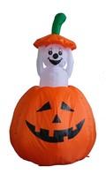 Animated Halloween Inflatable Pumpkin Ghost New Yard Garden Decoration B... - €68,87 EUR