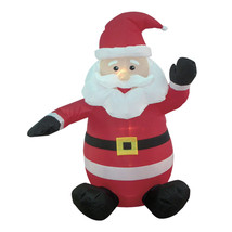4 FOOT Lighted Christmas Inflatable Santa Claus LED Lights Yard Decorati... - £36.14 GBP