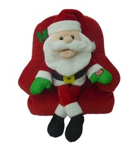 Singing Santa Claus Sofa Chair Animated Plush Christmas Musical Toy Jing... - $49.00