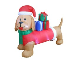 Christmas Inflatable Dog Puppy Wiener Dachshund New 2015 Yard Outdoor De... - $79.00