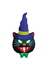 Halloween Inflatable Lighted Black Cat Indoor Outdoor Yard Decoration Pa... - £33.82 GBP