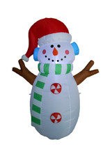 Christmas Inflatable Snowman Lights 2015 Party Yard Garden Outdoor Decor... - $49.00