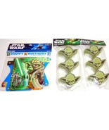 STAR WARS Yoda Party Supplies Birthday 6' Banner 6 Treat Containers 4 Wr... - $7.95