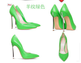 pp010 Extra size European style stiletto pumps, candy color, US size 3-1... - $98.00