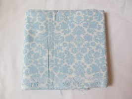 "Cream & Light Blue Fancy Floral Pattern Quilting Fabric JoAnn Fabrics 20"" x 44"" - $6.50"