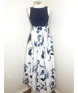$280 Lauren Ralph Lauren Women's Floral Gown Navy/White 14 - $161.26