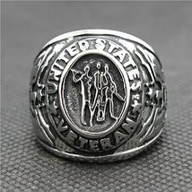 316L Stainless Steel Silver Cool USA Army Siver New Ring (9)
