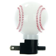 Sunlite 04041-SU E165 Baseball Decorative Night Light, White