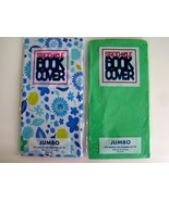 2 Girl's Jumbo Text Book Covers Stretchable Sox School Student Flowers a... - $4.75