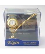 Golf  Ball and Club Mini Desk Clock Elgin Vinta... - $15.00