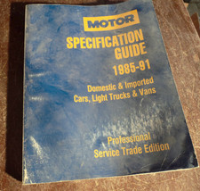 1985-1991 MOTOR Spec Guide  1st Edition 1st Pri... - $8.95