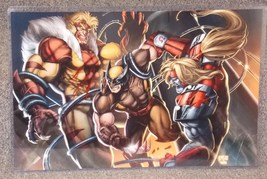 Marvel X-Men Wolverine Sabretooth Glossy Print 11 x 17 In Hard Plastic S... - $24.99