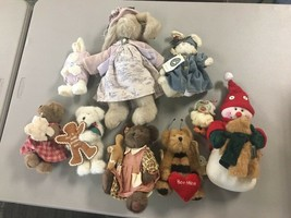 """Lot of 9 Plush Boyds Bears 6""""-15"""" (some with tags), Clothing, Signs C46 - $67.72"""