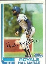 1982 Topps Hal Mcrae Kansas City Royals #625 Baseball Card - $1.97