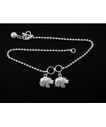 925 Sterling Silver Elephant Anklet Chain Charm Ankle - $19.00