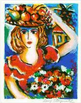 """Zamy Steynovitz """"Lady With Bouquet"""" - S/N Serig... - $75.00"""