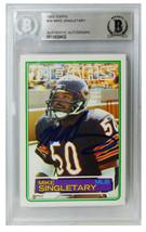 Mike Singletary Signed Bears 1983 Topps Rookie Card #38 (Beckett Encapsu... - $115.00