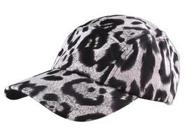 Neff Headwear White Leopard Print Strapback 5-Panel Baseball Hat Cap F13014 NW image 1