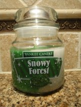 Yankee Candle Holiday Swirl 12 oz Jar Candle SNOWY FOREST [Kitchen] - $16.61
