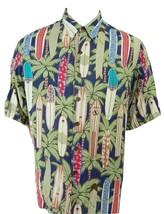 Reyn Spooner Long Boards Hawaiian Spun Rayon Button Front Short Sleeve S... - $39.95