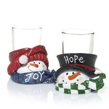 Yankee Candle Top Hat Snowmen Votive Candle Holder [Kitchen] - £13.82 GBP