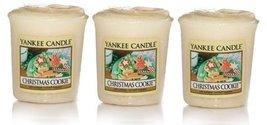 3 Yankee Candle CHRISTMAS COOKIE Sampler Votive Candles 1.75 oz each [Ki... - $14.65