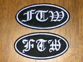 FTW BIKER CUSTOM SEW-ON PATCH CHOOSE OVAL or RECTANGLE + COLORS + LETTER... - $5.99