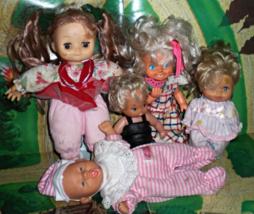 Dolls -Lot of 5 Vintage dolls - $10.00