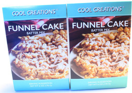 Funnel Cake Mix Batter Kit to make at home DIY - Lot of 2 Boxes Makes 10... - $10.66