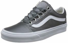 Vans Women's 11.5 Old Skool Grey (Satin Lux) Gray/True White Mens 10 - $74.71