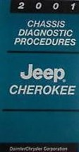 2001 JEEP CHEROKEE Chassis Diagnostic Procedures Manual Factory OEM BOOK... - $28.61