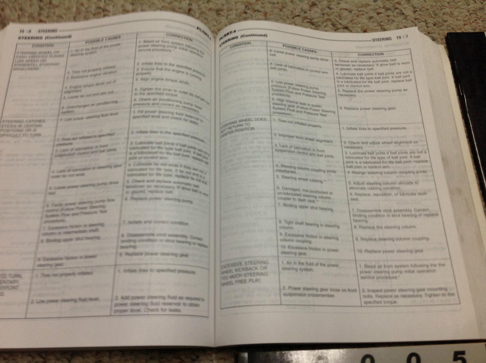 2005 Dodge Neon SRT-4 Shop Service Repair Manual SET W Diagnostics + Recalls EWD