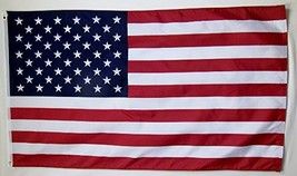 USA Polyester Flag 3' X 5' Indoor Outdoor American Banner - $10.95