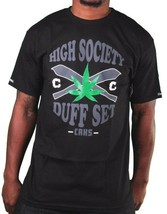 Crooks & Castles Black or White High Society Duff Marijuana Weed Joints T-Shirt image 1