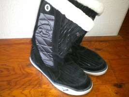 Puma Size 10.5 (10 1/2) Black Luff Down Jacket Women Slip On Boots - $26.73