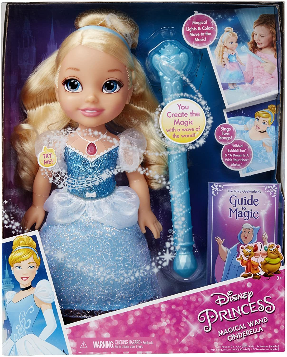 Primary image for Disney Princess Magical Wand Cinderella lights and Colors Talking Doll  14""
