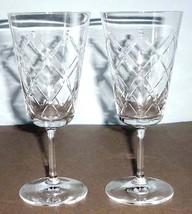 Martha Stewart Wedgwood Trellis 2 Piece Iced Beverage Glass Set Crystal New - $39.90