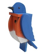 BLUEBIRD BIRDHOUSE Solid Wood Large Blue Bird House - AMISH HANDMADE in USA - $89.07