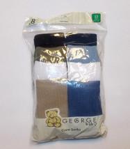 George Baby Toddler Boys 8 Pack Crew Socks Multi-Colors Size 3-5 Years NIP - $9.45