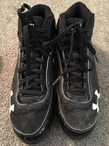 Under Armor Black Baseball Cleats, Size 9 - $28.99