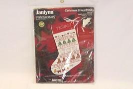 "Janlynn Sampler Stocking Xmas Cross Stitch 977 84 16"" - $25.47"