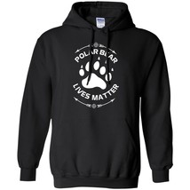 Animal Lover Polar Bear Lives Matter Save The Bears Men's Winter Hoodies... - $39.55