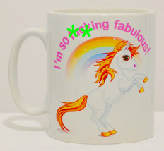 I'm So F*cking Fabulous Unicorn Mug Can Personalise Funny Sweary Rainbow... - $9.23