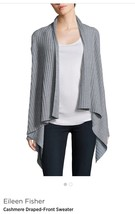 Eileen Fisher $558 NWT Cashmere Sweater Cardigan Moon Color , L - $136.84