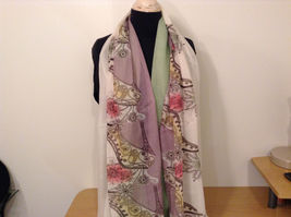 MAD fashion New scarf  Pastels Floral and High Heel Shoe Pattern choice of color image 9