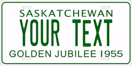 Saskatchewan 1955 License Plate Personalized Custom Car Bike Motorcycle ... - $10.99+