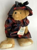 Boyds Bears Eldora Bear Plush Jointed Teddy Retired Red Plaid Dress Hat ... - $21.84