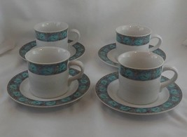 "Studio Nova ""Village Trail"" Y2219 Lot - Set of 4 Tea Cups and Saucers- Mugs - $8.00"
